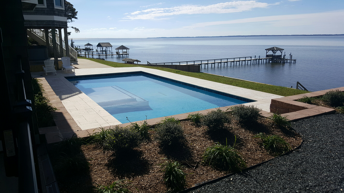 OBX Concrete Pools Custom Design at Caribbean Pools and Spas
